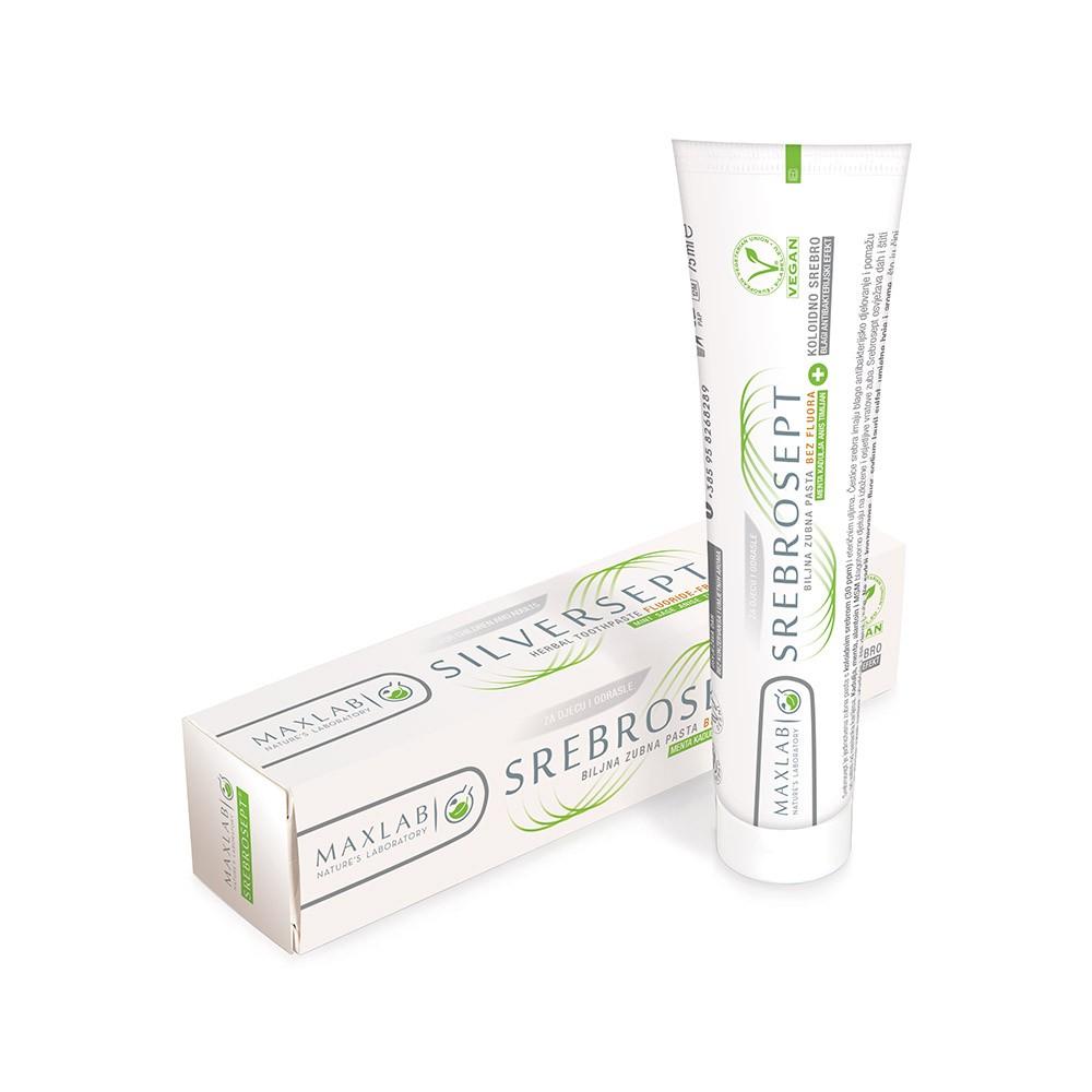 Prirodna pasta za zube Bez Fluora – SrebroSept 75 ml – Koloidno Srebro 30ppm